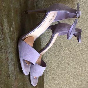 Aldo lavender suede strappy sandals - heels